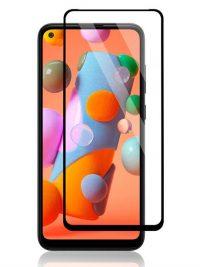 Folie Fullscreen 9D din sticla securizata pentru Samsung Galaxy A11 - FULL GLUE