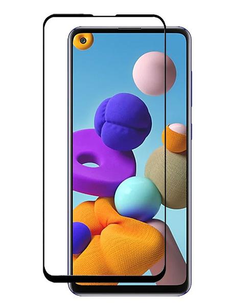 Folie Fullscreen 9D din sticla securizata pentru Samsung Galaxy A21 / A21s - FULL GLUE