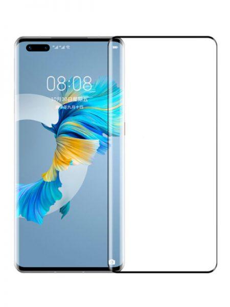 Folie curbată 3D din sticlă securizată pentru Huawei Mate 40 Pro / Mate 40 Pro+ NEGRU - FULL GLUE (full cover)