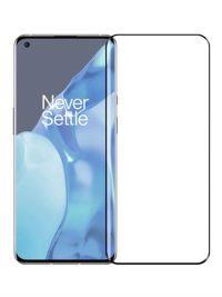 Folie curbată 3D din sticlă securizată pentru OnePlus 9 Pro NEGRU - FULL GLUE (full cover)