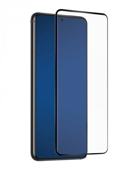 Folie curbată 3D din sticlă securizată pentru Samsung Galaxy S21 Ultra 5G NEGRU - FULL GLUE