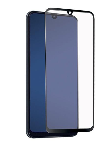 Folie ușor curbată 5D din sticlă securizată pentru Samsung Galaxy A42 5G NEGRU - Full glue