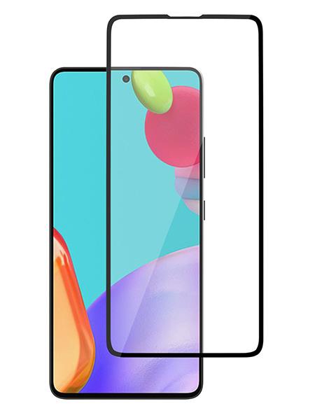 Folie ușor curbată 5D din sticlă securizată pentru Samsung Galaxy A52 4G/5G NEGRU - Full glue