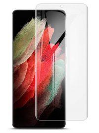 Folie curbată 3D din sticlă securizată pentru Samsung Galaxy S21 Ultra 5G TRANSPARENT - Full cover